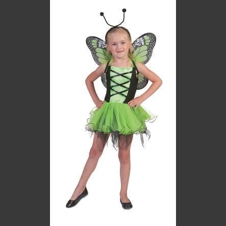 Funny Fashion Kostium karnawałowy Zielony motylkowy
