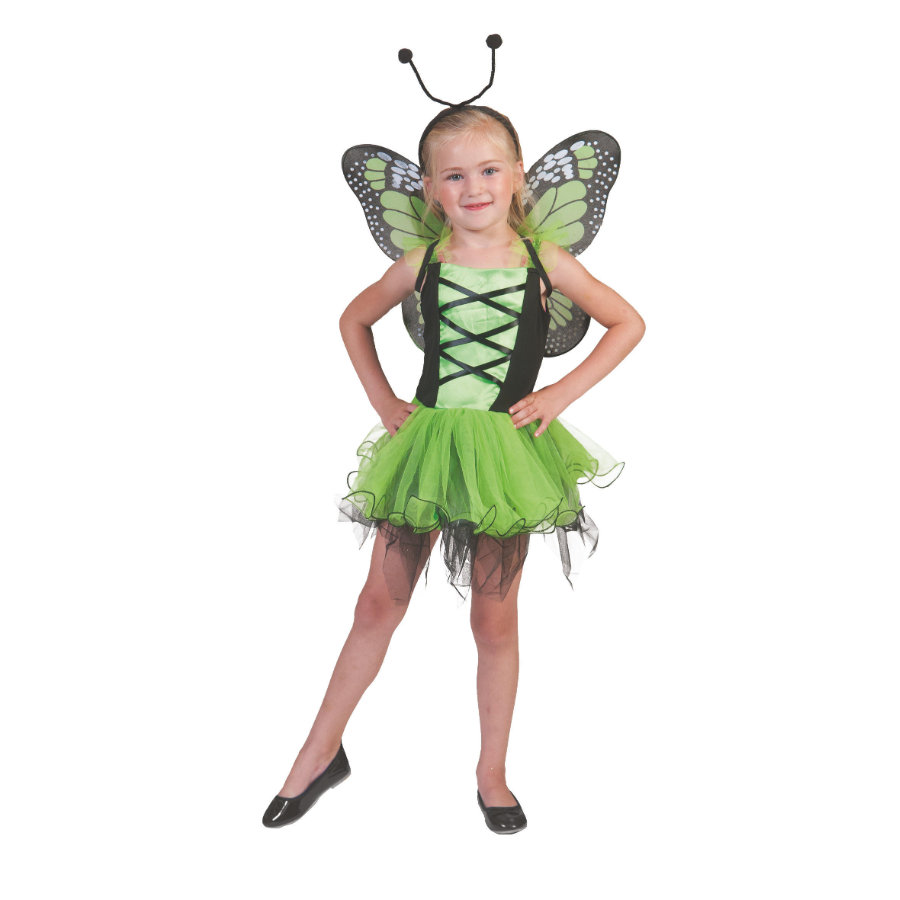 Funny Fashion Costume Carnaval Papillon, vert
