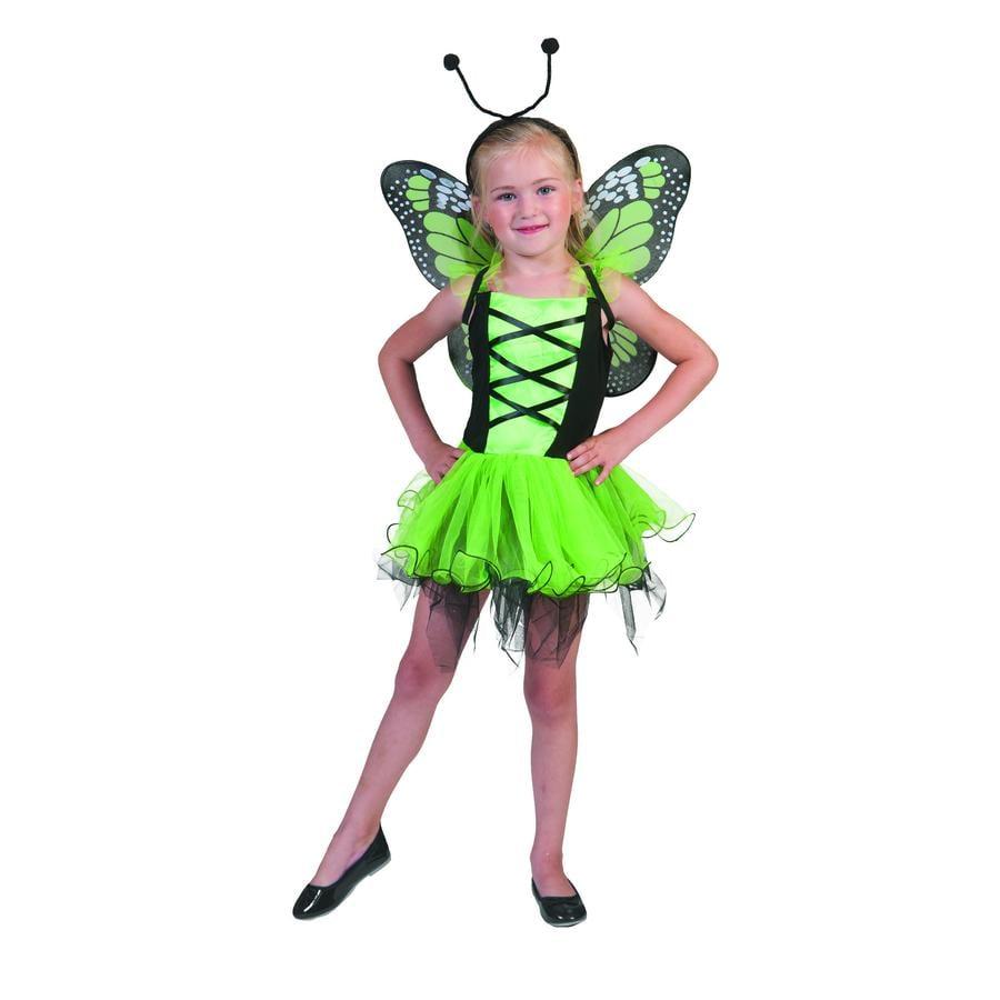 Funny Fashion karnevaldräkt Fjärilsgrön