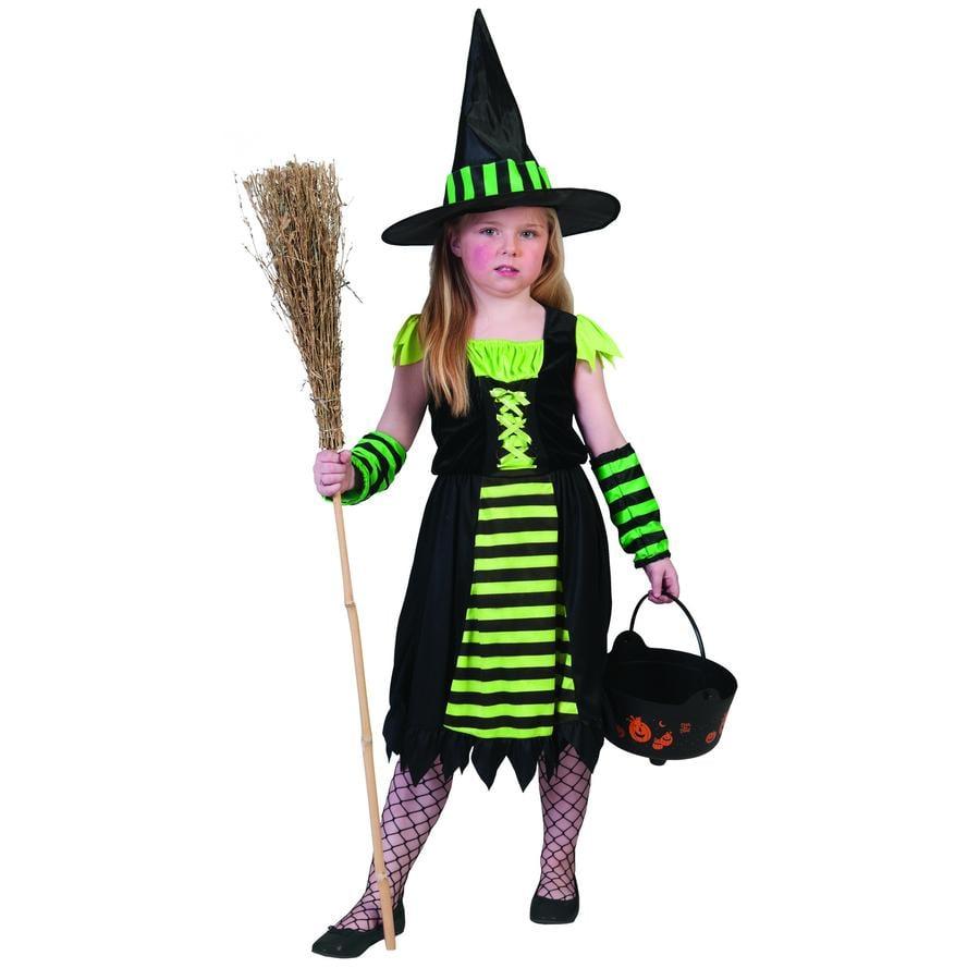 FUNNY FASHION Costume da Carnevale Strega verde