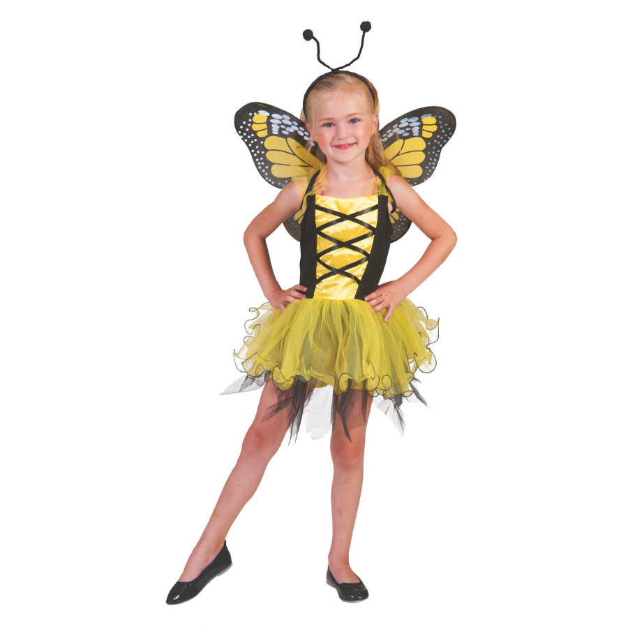 Funny Fashion Karneval Kostüm Butterfly yellow