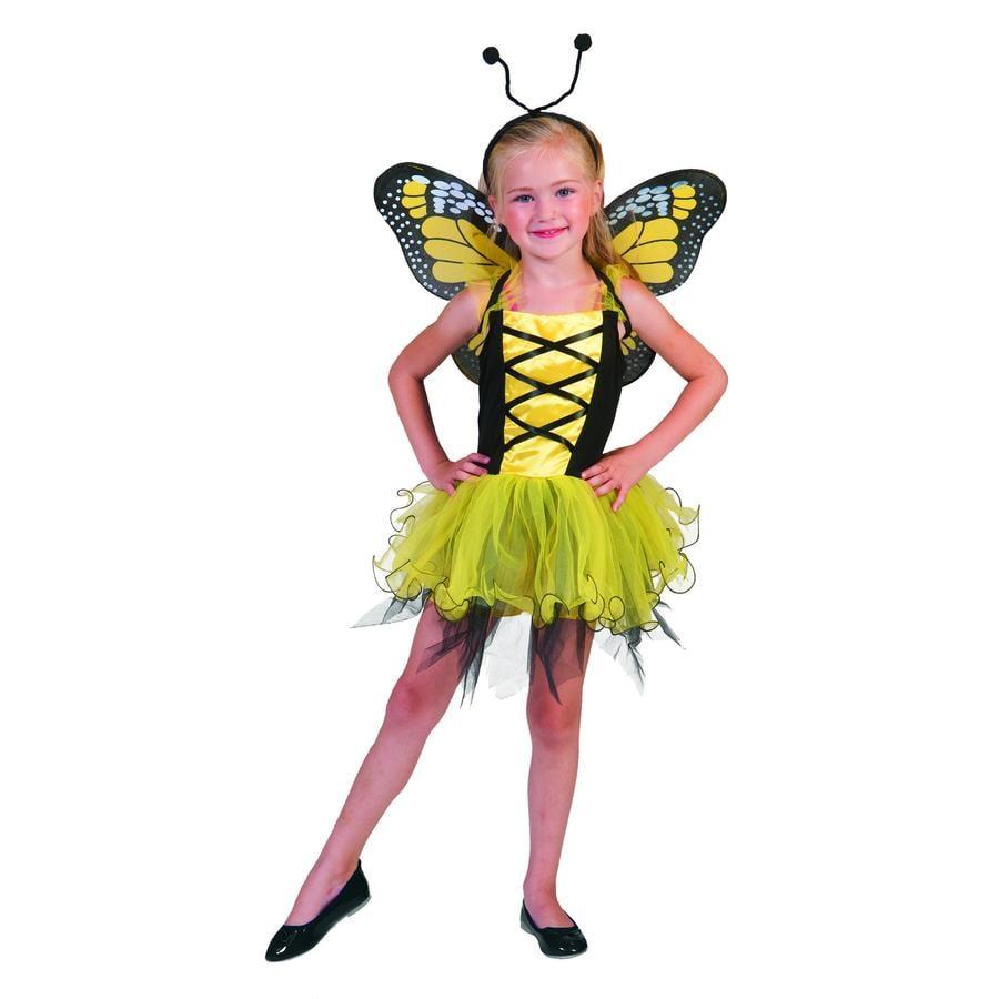 Funny Fashion karnevalkostyme Butterfly gul