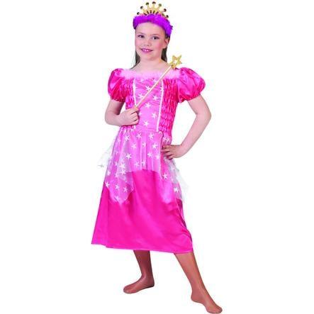 FUNNY FASHION karnevaalipuku prinsessa vaaleanpunainen