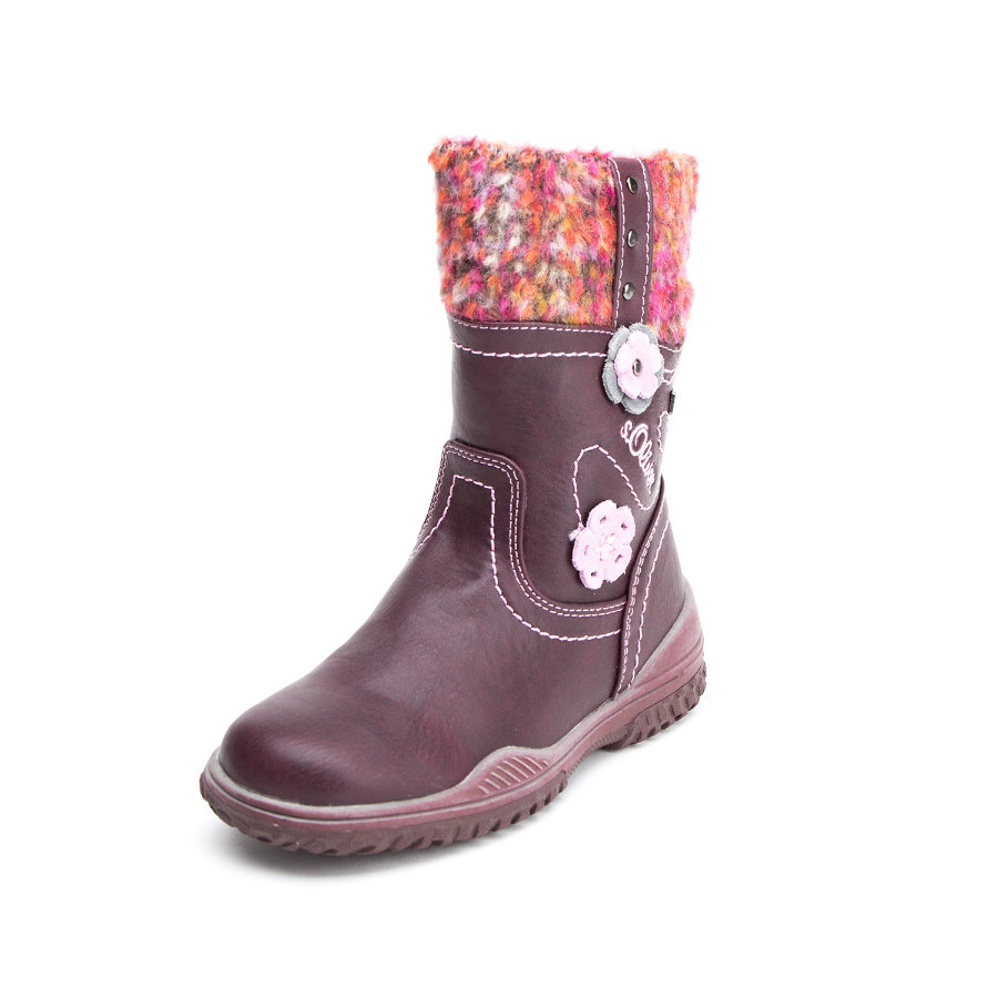 s.Oliver Girls Stiefel bordeaux