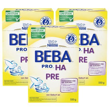 NESTLE Beba HA Pre Formula 3x550g