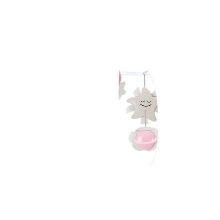 B kids® 3 in 1 Babymobil med nattlampa, rosa
