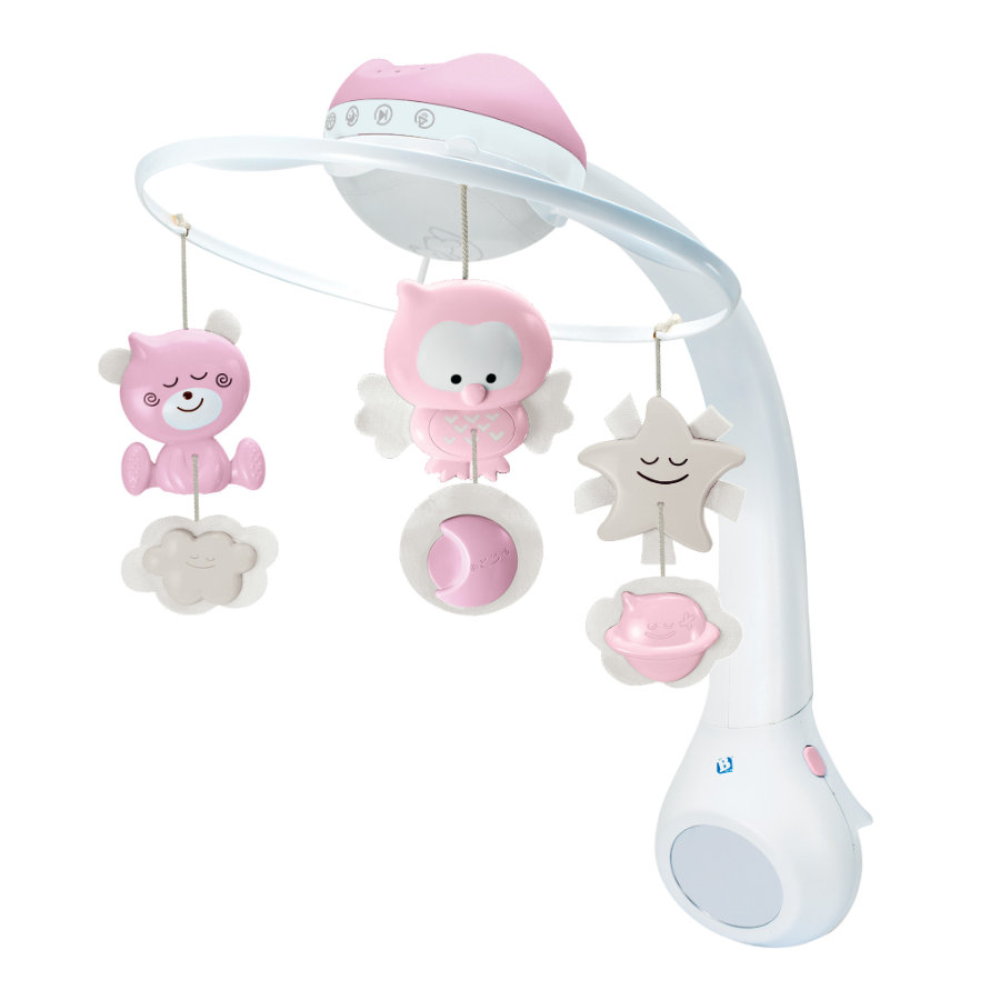 Infantino 3 in 1 Musikmobile mit Traumlampe, rosa