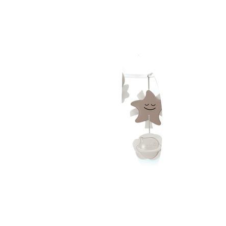 B kids® 3 in 1 Babymobil med nattlampa, grå