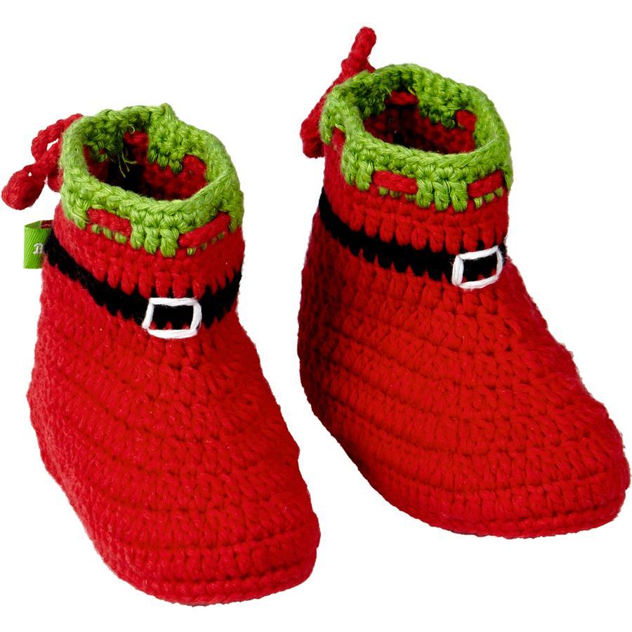 COPPENRATH Häkelschühchen Weihnachtsmann - BabyGlück