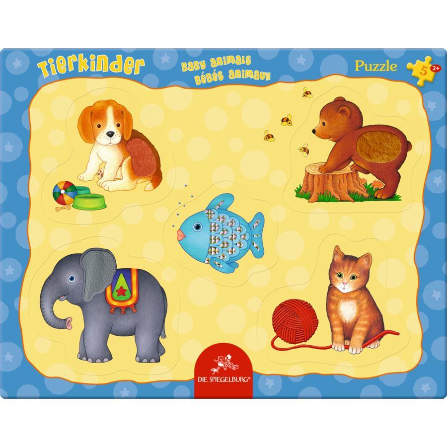 COPPENRATH Tierkinder Fühlpuzzle, 5 Teile