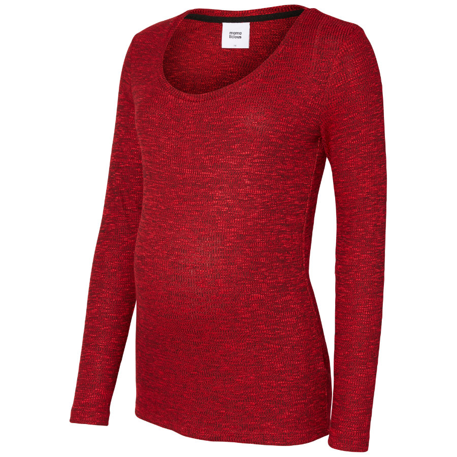 mama licious Umstands Pullover MLREDO rot