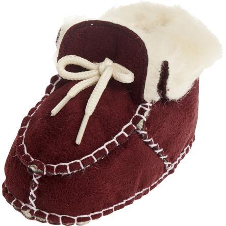 PLAYSHOES Chaussure bébé unisexe en agneau aspect agneau bordeaux