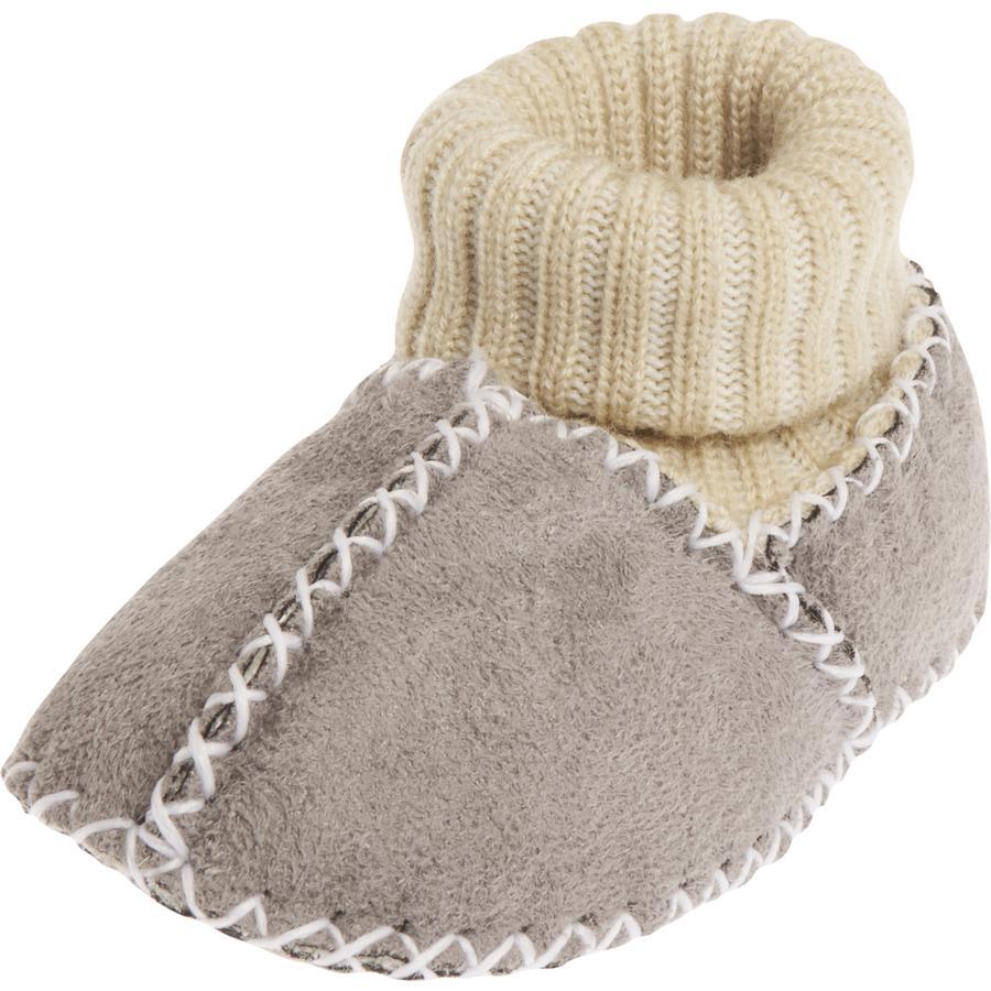 PLAYSHOES Uniseks babyschoen in lamsvachtlook grijs