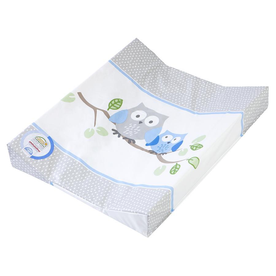 julius z llner wickelauflage 2 keil mulde 50 x 65 cm kleine eulen blau baby. Black Bedroom Furniture Sets. Home Design Ideas