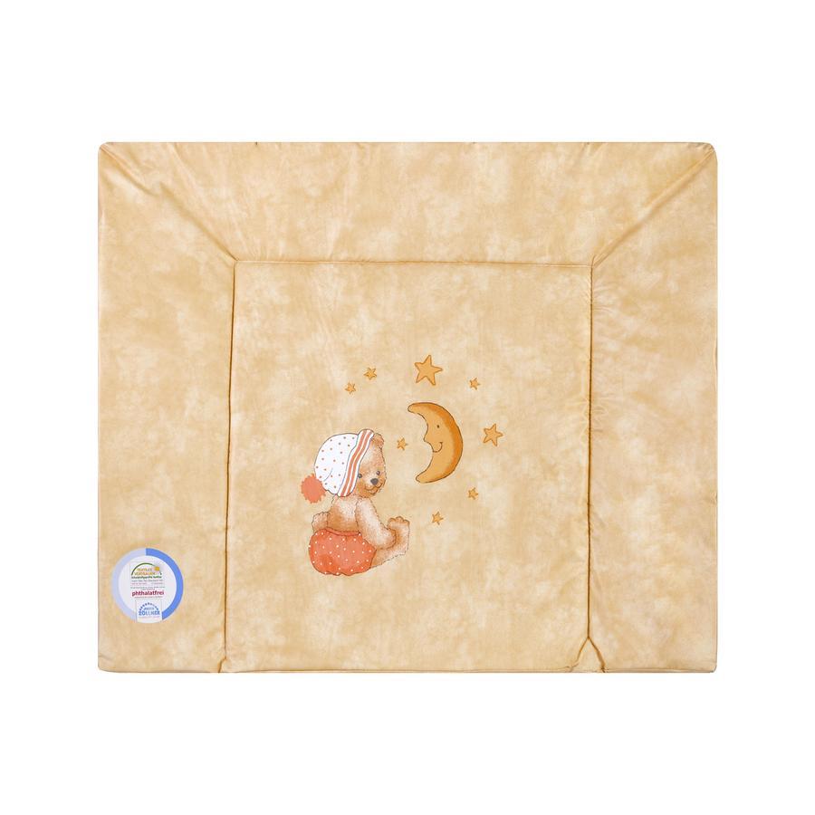 JULIUS ZÖLLNER Tříklínová přebalovací podložka medvídek apricot