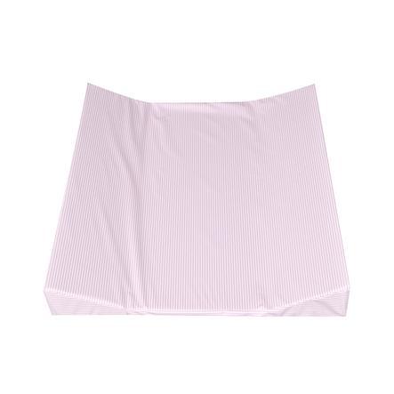 JULIUS ZÖLLNER Tapis à langer Bandes d'auge à 2 bords rosa