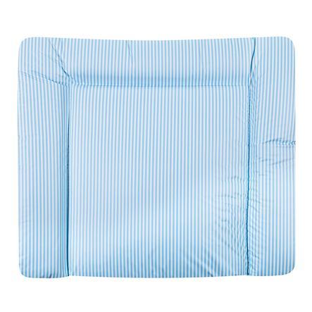 JULIUS ZÖLLNER Wickelauflage flach Folie Streifen blau 75 x 85 x 4 cm