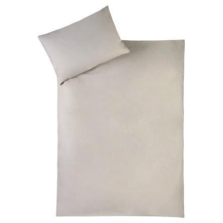 JULIUS ZÖLLNER Biancheria da letto uni taupe 100 x 135 cm