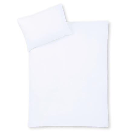 JULIUS ZÖLLNER Bettwäsche uni weiß 100 x 135 cm