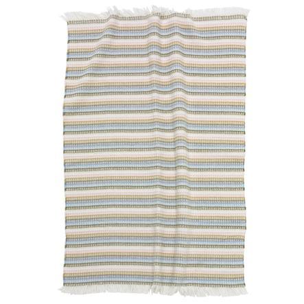 ALVI Bomullsteppe rosa stripete 75x100 cm