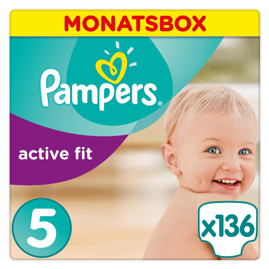 Pampers  Active Fit Gr. 5 Junior 136 Windeln 11 bis 16 kg Monatsbox