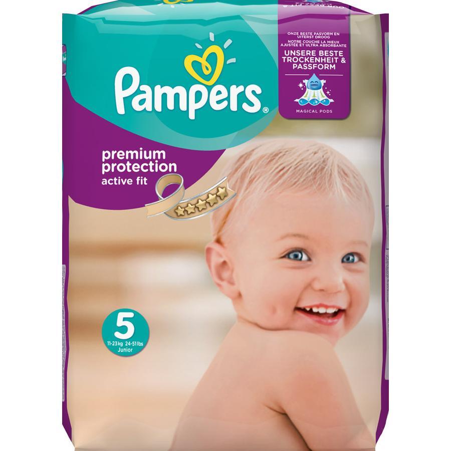 Pampers Active Fit T. 5 Junior (11-25 kg) pack mensuel 136 pièces