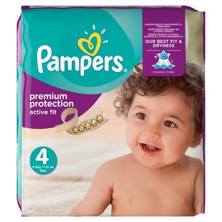 PAMPERS Pannolini Active Fit Taglia 4+ Maxi (7-18 kg) - Confezione mensile da 168 pezzi