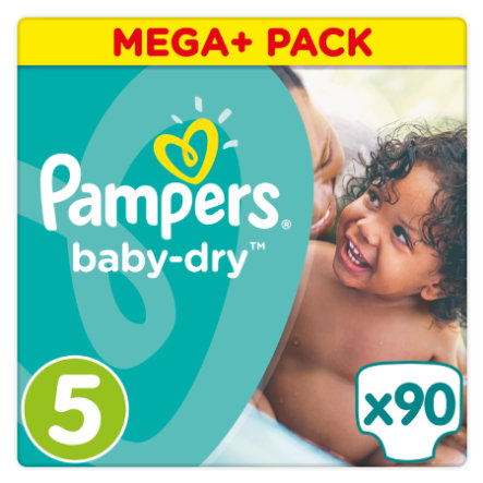 Pampers Baby Dry T.5 Junior (11-25 kg) Mega Plus Pack 90 pièces