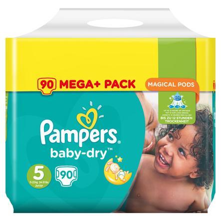 PAMPERS Pannolini Baby Dry Junior Misura 5 (11-25 kg) Mega Plus Pack 90 pannolini