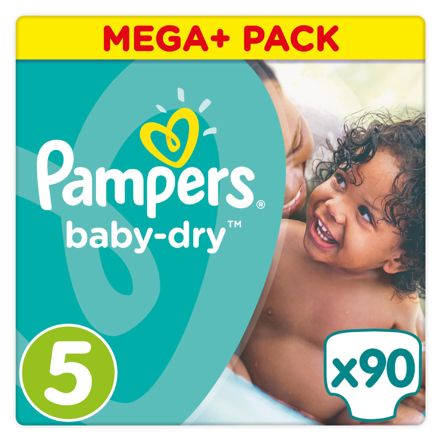 Pampers Windeln Baby Dry Junior Gr. 5 Mega Plus Pack 11-23 kg 90 Stück