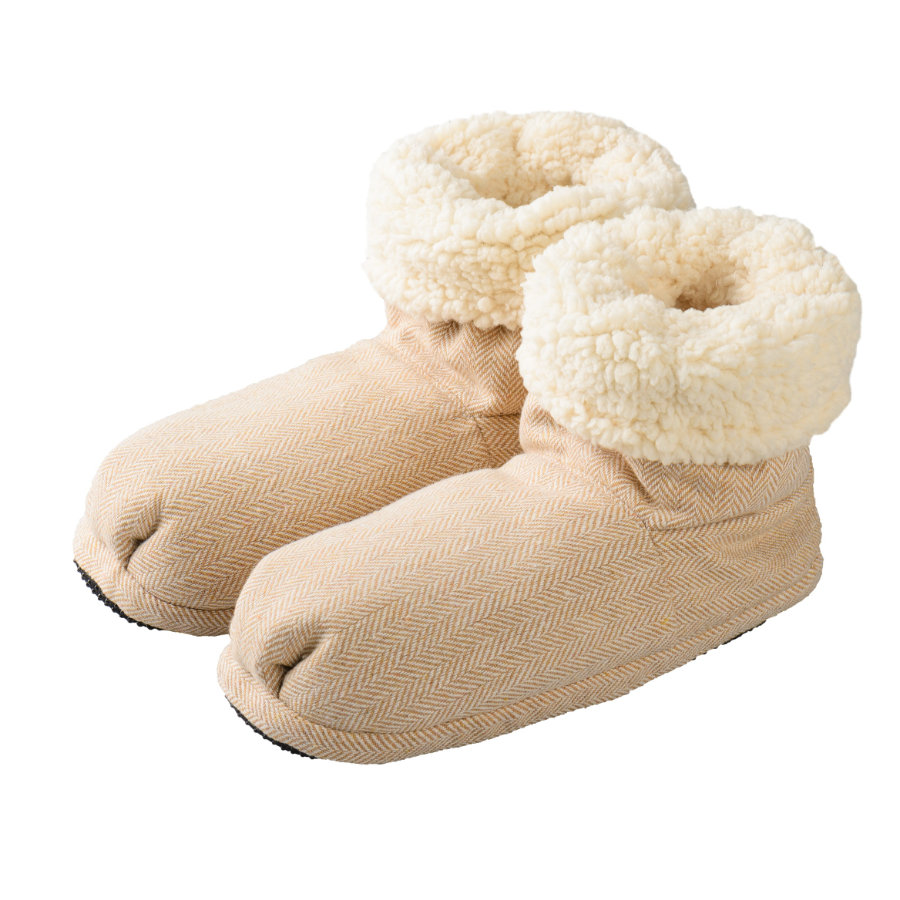 Warmies® Warmtesloffen Slippies® Boots Comfort beige (Maat 37 - 41)