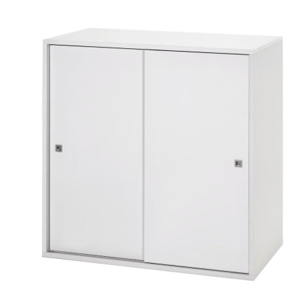 schardt commode 2 grandes portes coulissantes clic blanc. Black Bedroom Furniture Sets. Home Design Ideas