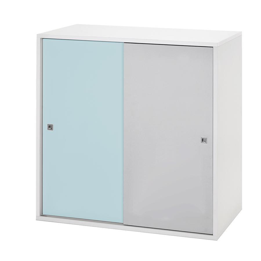 schardt commode 2 grandes portes coulissantes clic turquoise gris. Black Bedroom Furniture Sets. Home Design Ideas
