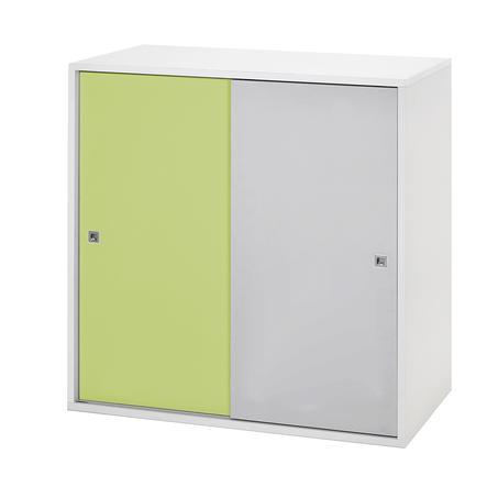 schardt commode 2 grandes portes coulissantes clic vert gris. Black Bedroom Furniture Sets. Home Design Ideas