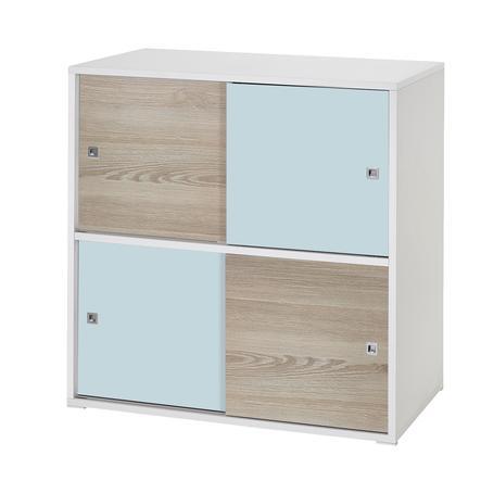 Schardt Commode, 4 petites portes coulissantes, Clic, turquoise/pin