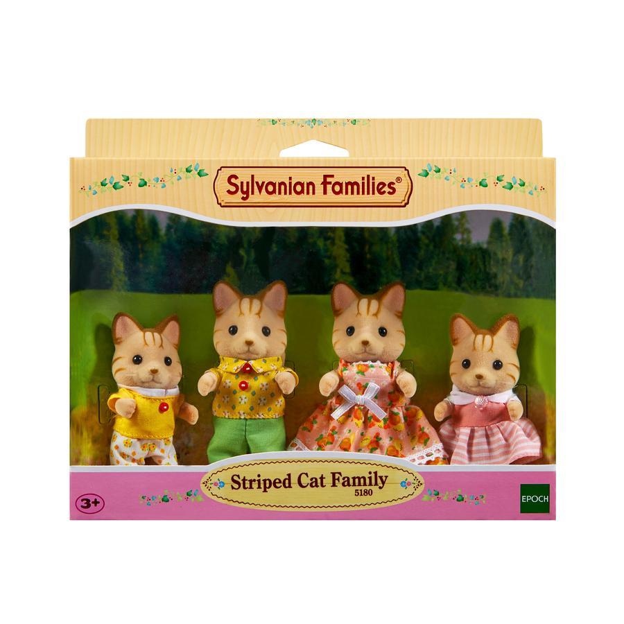 Sylvanian Families® Figurine famille chat tigré 5180