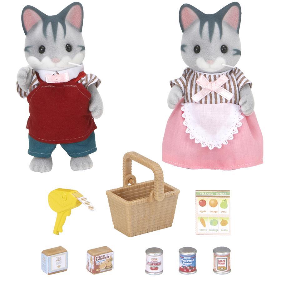 Sylvanian Families® Chats gris commerçants