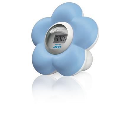 Philips Avent Bad- und Raumthermometer SCH550/20 Blumendesign blau