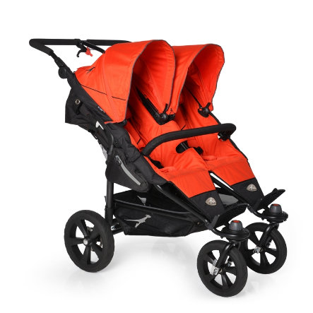 TFK Poussette double Twin Trail Orange.com