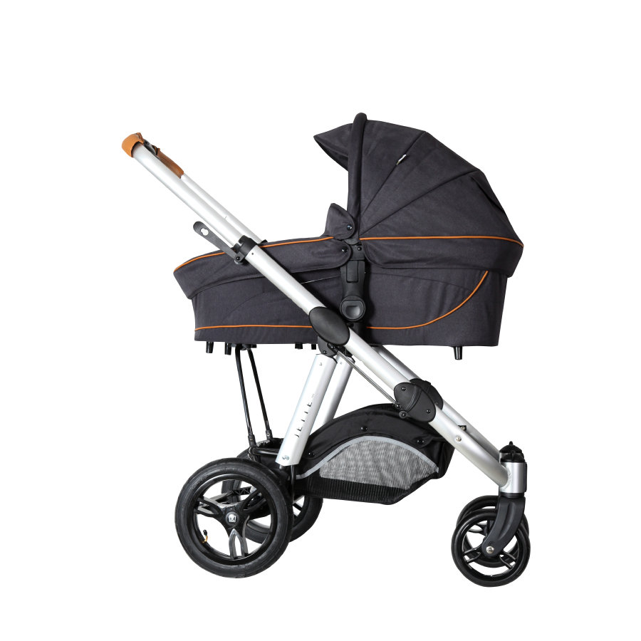 JETTE Kinderwagen Joel Air inkl. Wanne Fishbone Graphite