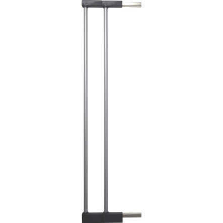 BABY DAN Extension Extend-A-Gate, argent, raccords noirs