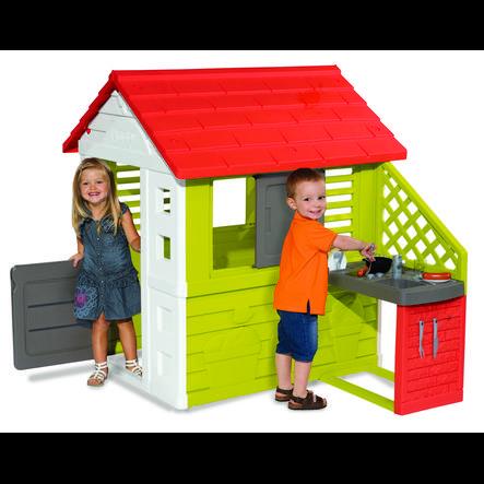 Smoby Naturhaus mit Sommerküche