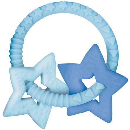 COPPENRATH Beißring mit zwei Sternen hellblau BabyGlück