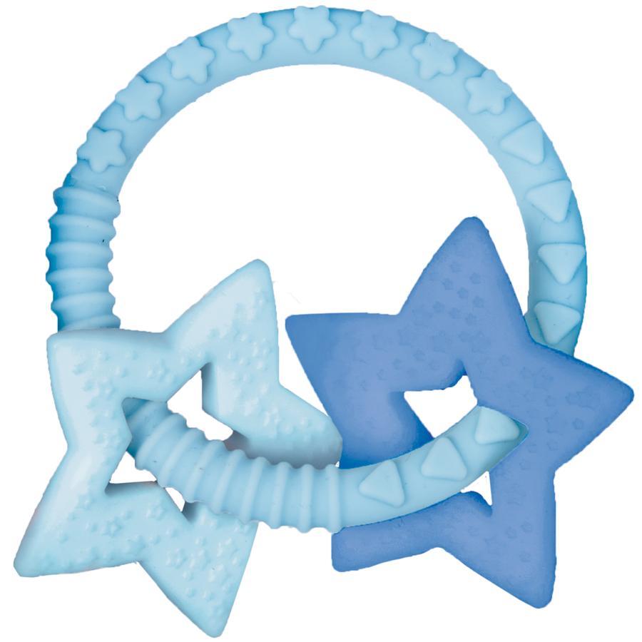 COPPENRATH Anneau de dentition avec deux étoiles bleu Baby clair porte-bonheur