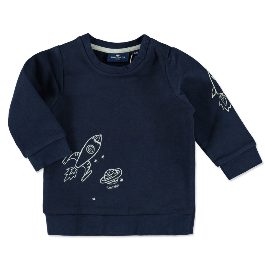 TOM TAILOR Boys Sweatshirt dark blue