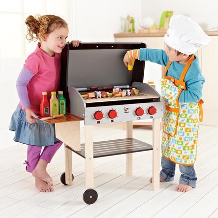 Hape Barbecue enfant Gourmet bois, accessoires, 22 pièces E3127