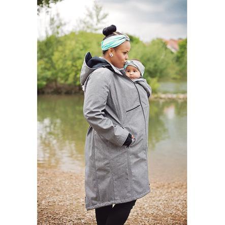Hoppediz Nosící a těhotenský kabát 4 v 1 šedý
