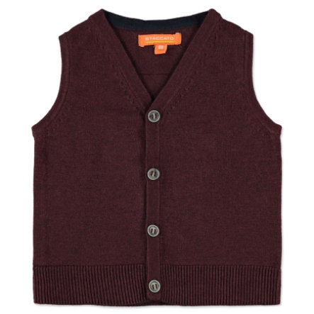STACCATO Boys Strickweste deep red