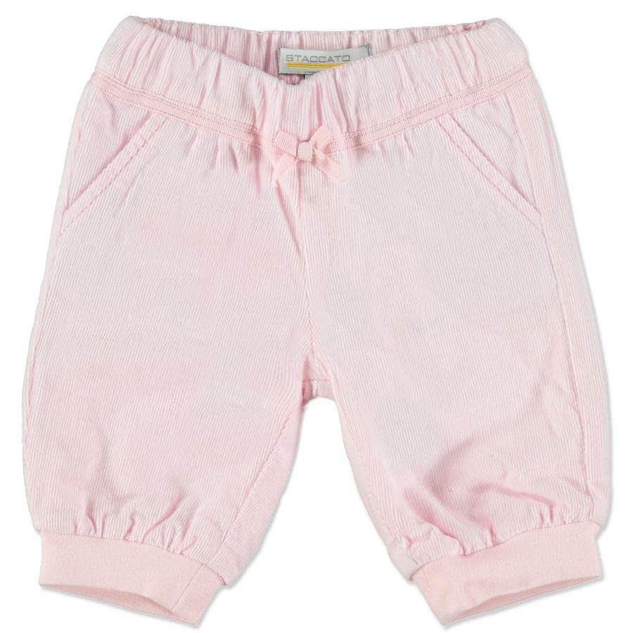 STACCATO Girl pantalon en velours côtelé rose sauvage