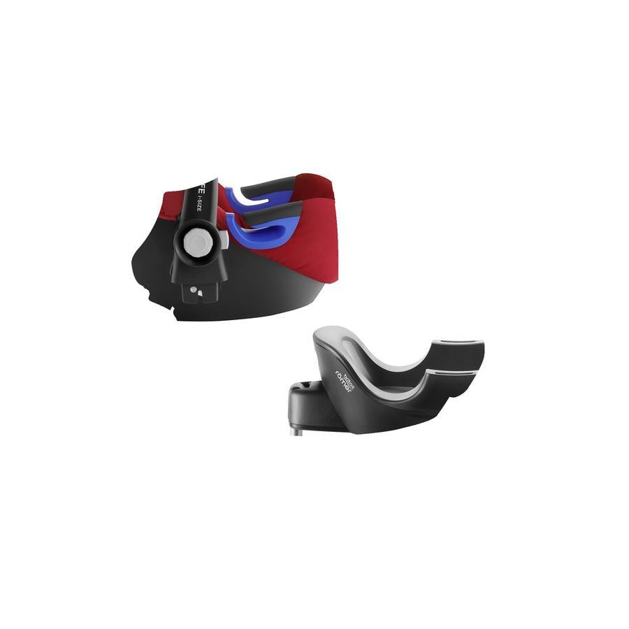 britax Babyskydd Baby-Safe i-Size Flame Red inklusive Flex Base